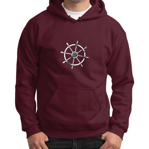 sailor hoodie maroon